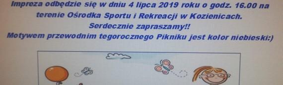 VI Piknik Rodzinny – 4 lipca 2019 r. , godz.17:00